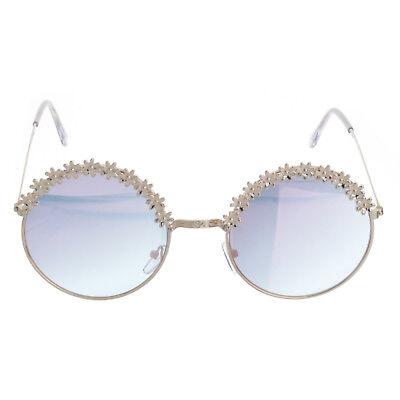 Floral Sunglasses (Women's Flower Floral Fashion Round Frame Sunglasses)