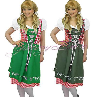 Oktoberfest Beer Girl Maid Heidi German Women Fancy Dress Costume Plus Size 8-18 - Beer Girl Costume Plus Size