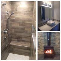 Rénovation, salle de bain, sous-sol...