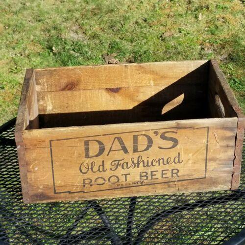 Dads old fashioned root beer wood crate caddie vintage