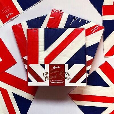 20 Union Jack 3 Ply Paper Napkins By LickleBox British UK Flag Royal