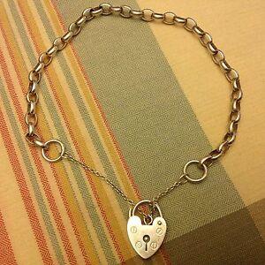 Vintage 925 Silver Bracelet with Lock. Caulfield Glen Eira Area Preview