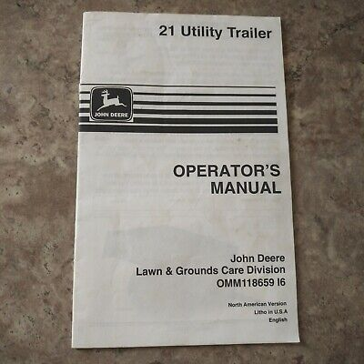 John Deere 21 Utility Trailer Operators Manual Omm118659