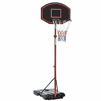 Canestro da Basket da Esterno con Supporto e Altezza Regolabile in Acciaio Ben