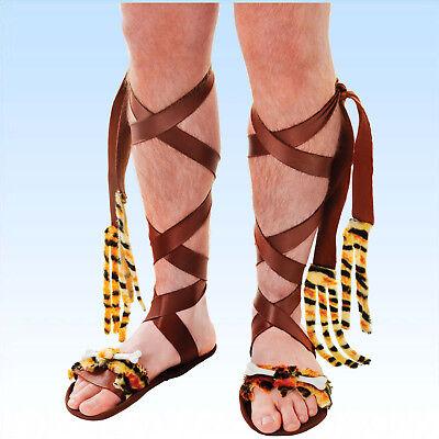 Sandalen für Kostüm Steinzeitmann Steinzeitfrau Caveman Steinzeitsandale Sandale