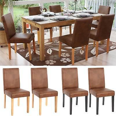 2x oder 6x Esszimmerstuhl Stuhl Lehnstuhl Littau Textil, Wildlederimitat - Polyester Wildleder Stuhl