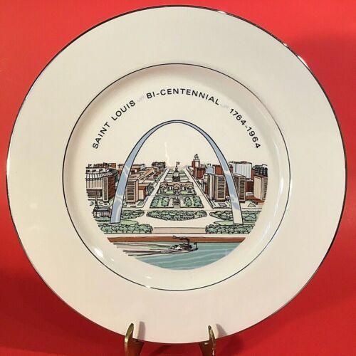 "SAINT LOUIS BI-CENTENNIAL PLATE ARCH 1764-1964 VINTAGE 10 3/4"" BUSCH STADIUM"
