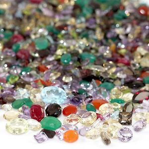 100 CARAT MIX LOT COA LOOSE FACETED NATURAL GEMSTONES MIXED GEMS WHOLESALE GEM