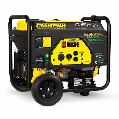 Champion Cpe-gn-76533 3800 Watt Portable Electric Start Dual Fuel Generator