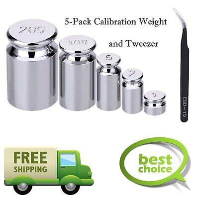 5-pack Calibration Weights Scales Balances Gram Weight Set 1g 2g 5g 10g 20g