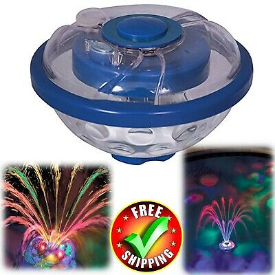 Swimming Pool Lights Underwater Floating Fountain Show Waterfall LED Multi Color - Floating Led Lights