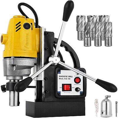 Taladro Magnetico 1100W 40 mm Taladradora de Núcleo + Set 6 brocas HSS 12000N
