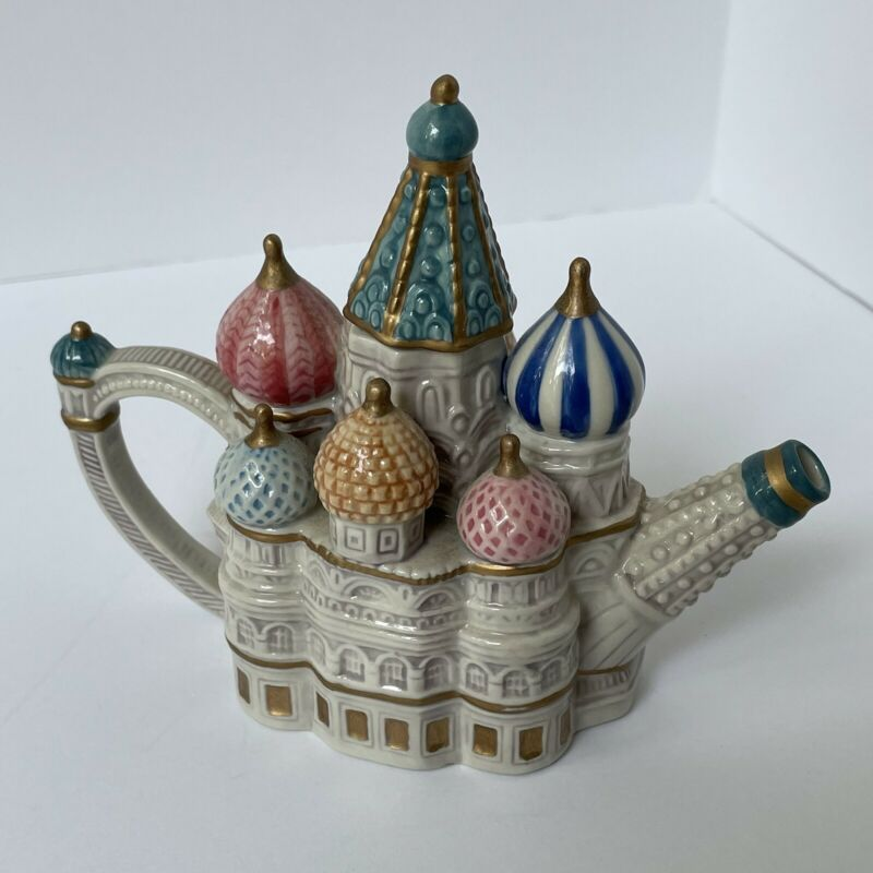 Fitz and Floyd St. Basil's Cathedral Small Teapot with Original Box