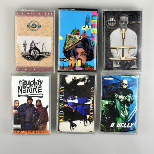 Lot of Six Hip Hop Rap Cassette Tapes Sir Mix A Lot MC Hammer R Kelly Rude Boys