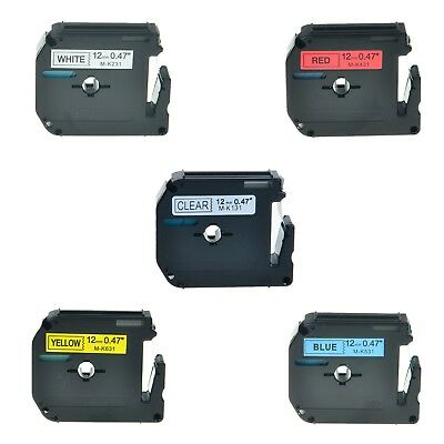 5pk Mk 131 231 431 531 631 Label Tape For Brother P-touch Pt-65sl Printer 12