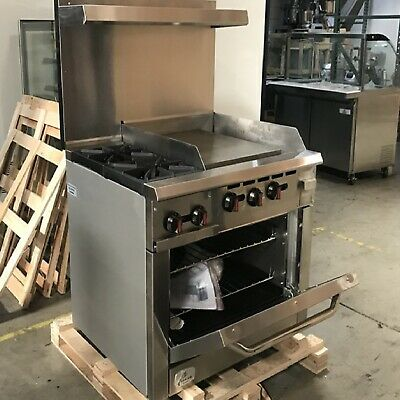 36 Oven Ranges 2 Burner 24 Griddle Nsf Commercial Restaurant Kitchen Stove New