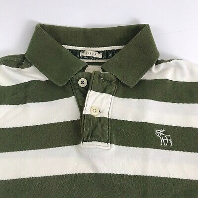 Abercrombie Distressed Rugby Polo Shirt Men's XL FITS Medium Long