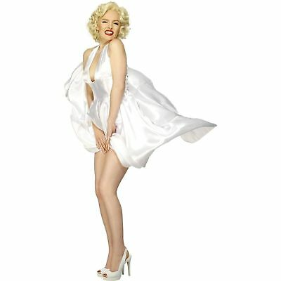 Marilyn Monroe Costumes (Marilyn Monroe White Classic Halterneck Womens Ladies Fancy Dress)