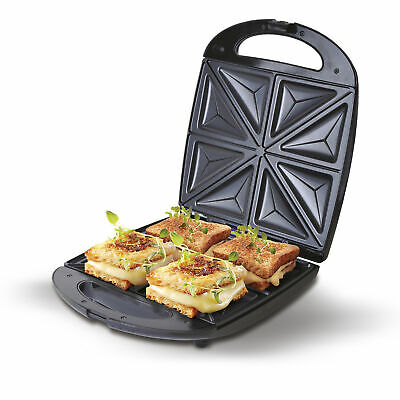 Sandwichera eléctrica 4 sandwiches XL 1500W Inox Antiadherentes CAMRY CR-3023