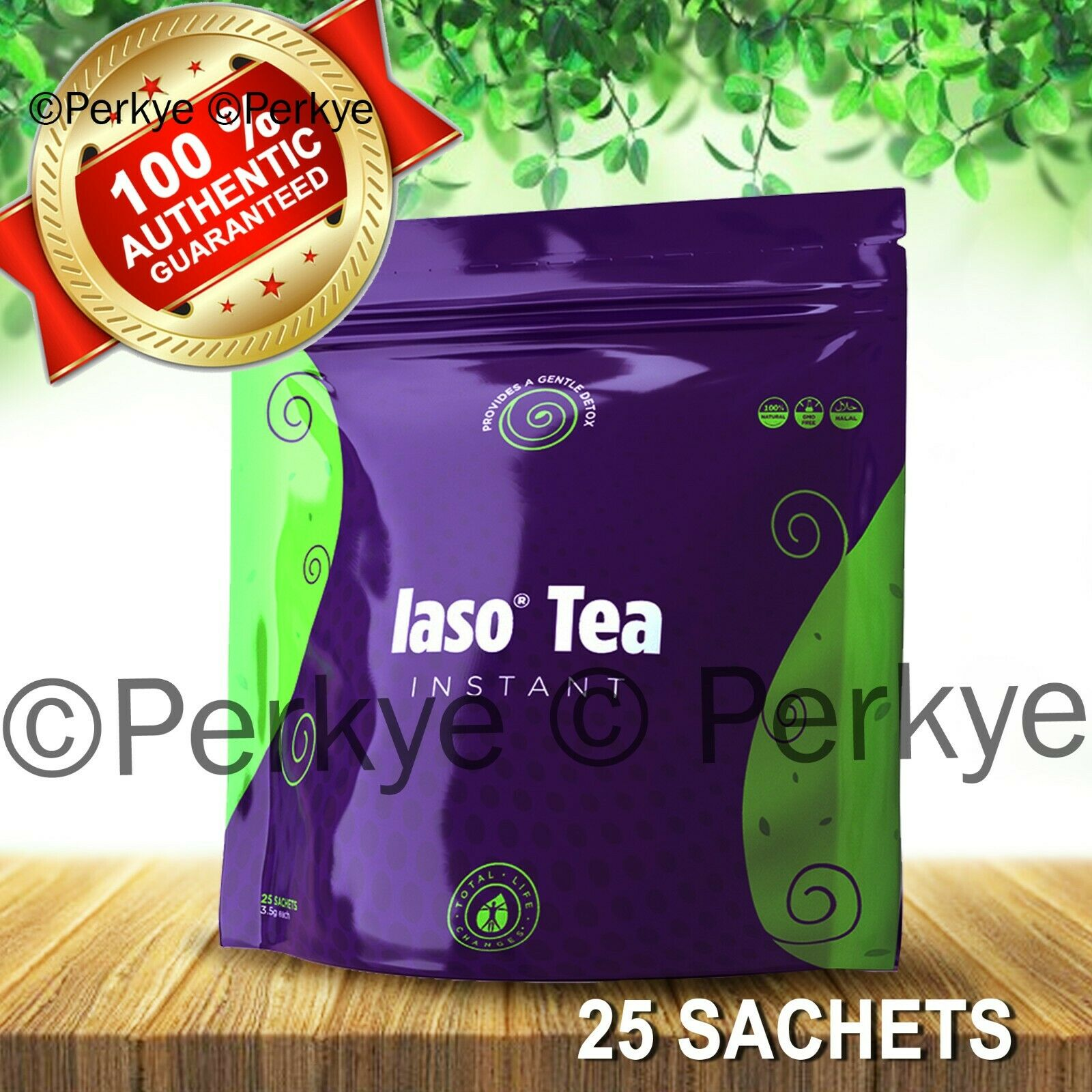 ❤️❤️ IASO INSTANT DETOX TEA 25 SACHETS_New in bag_ Total Life Changes_TLC