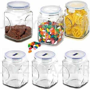 kitchen canister set 6pc glasslock glass food storage