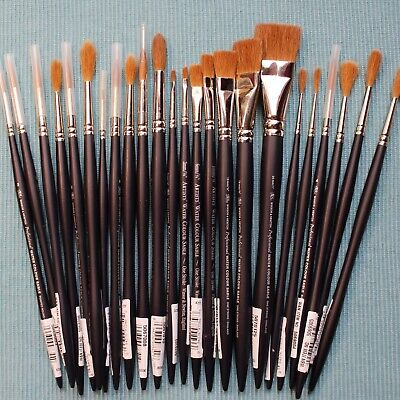 Watercolor Paint Brushes (CLEARANCE SALE! Winsor & Newton, Professional / Artist's Kolinsky Sable Brushes)