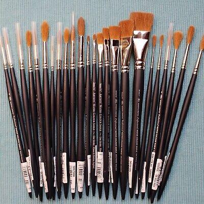 CLEARANCE SALE! Winsor & Newton, Professional / Artist's Kolinsky Sable Brushes  - Artist Paint Brushes