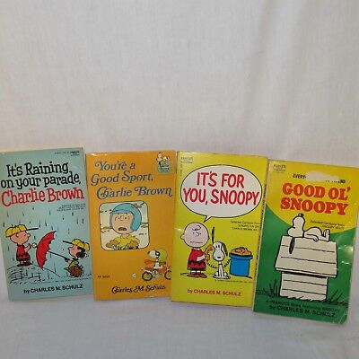 Vintage Charlie Brown Snoopy Children's Books Charles Schulz