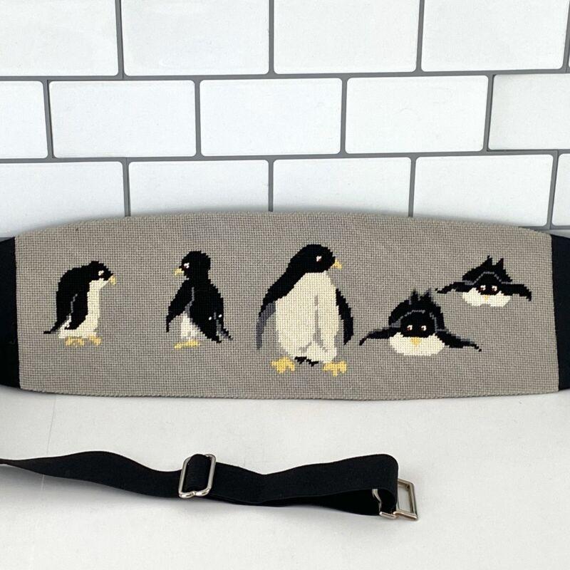 Penguin Custom Black/Gray Vintage Needlepoint After Six Cummerbund L/XL 36-44