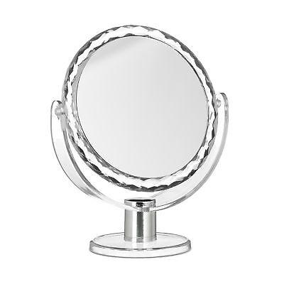 Kosmetikspiegel Vergrößerung, Schminkspiegel stehend, Make Up Spiegel rund klein ()
