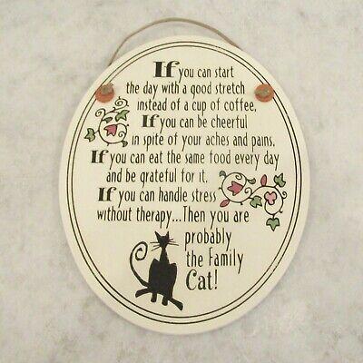 Spooner Creek cat tile plaque wall hanging lifestyle motto sign Michael -