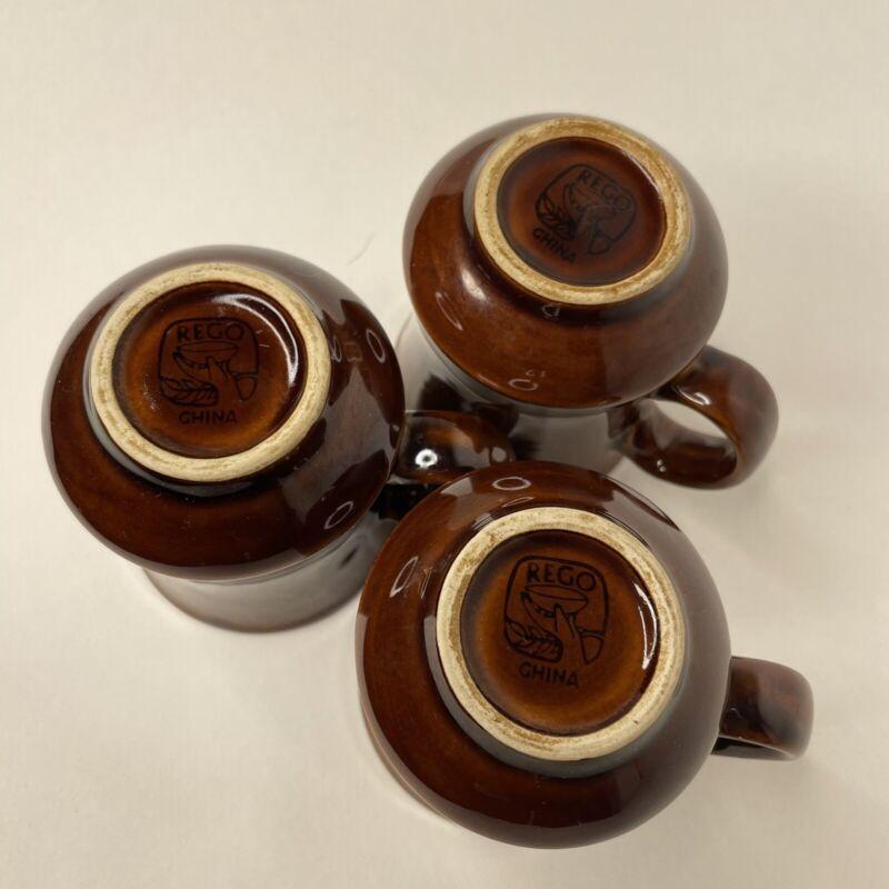 3 Vintage Rego Coffee Mugs