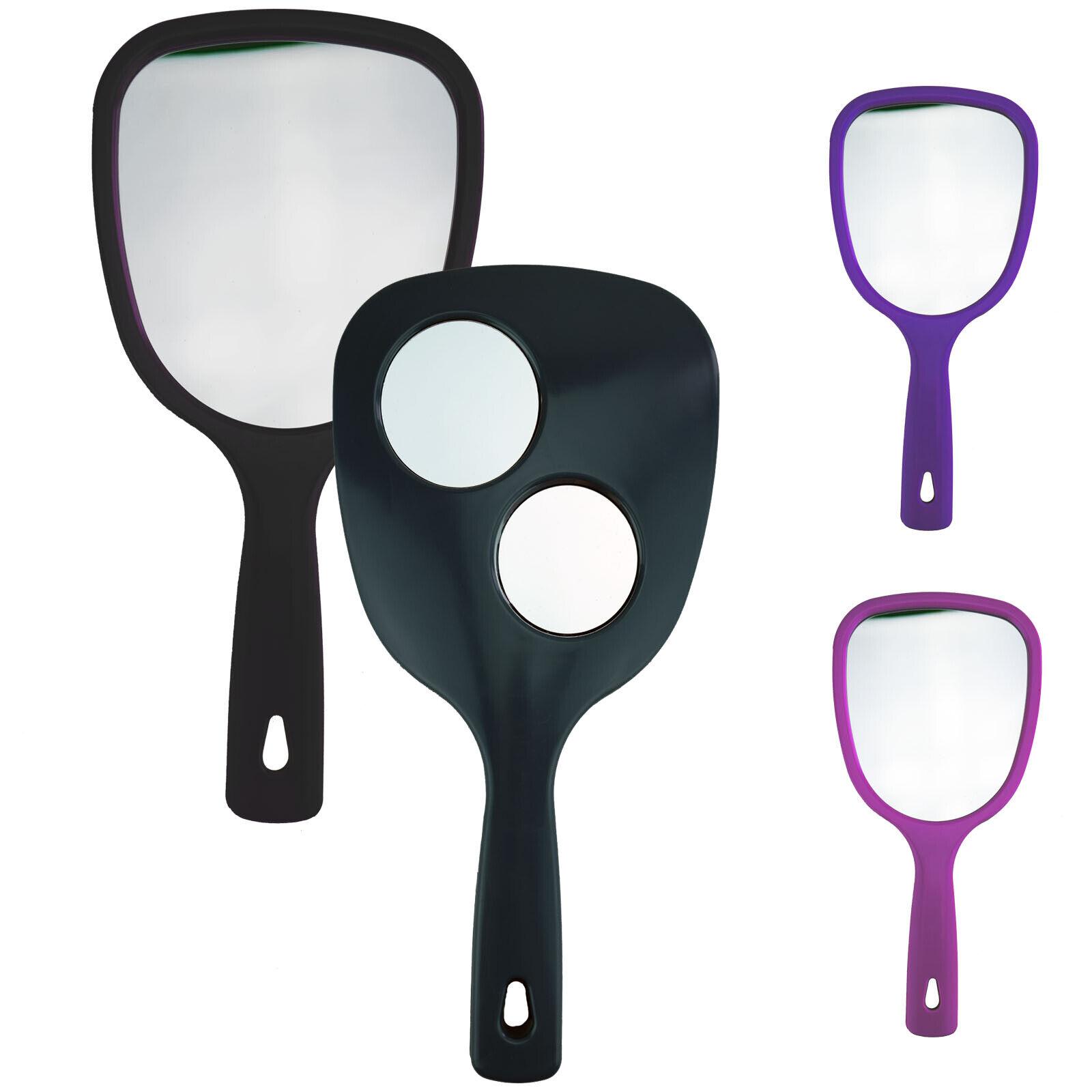 Handspiegel mit Griff 3in1 Spiegel Vergrößerung Kosmetikspiegel Schminkspiegel