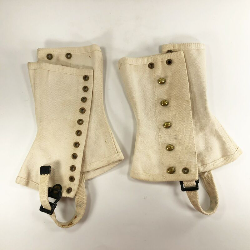 Vintage Boy Scouts of America BSA Official Boot Leggings Spats Sz Medium AS IS