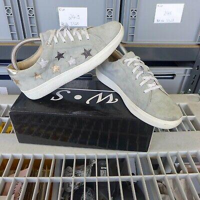 Boxx Sneaker von Zalando Gr. 39 Wildleder Sterne Grau guter Zustand low sprit