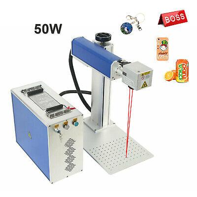 50w Fiber Laser Split Marking Machine Metal Engrave Engraving Us Stock