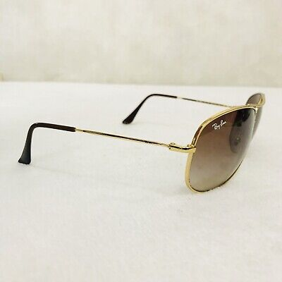 Ray Ban Aviator Brown And Gold rb3293 001/13 63-13 3n  (Ray Ban Gold And Brown Aviators)