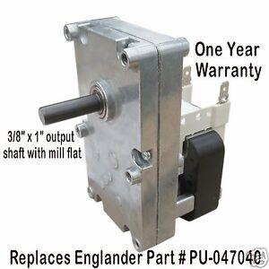 Englander Pellet Auger Motor Xp7100 1 Rpm Ccw Pu