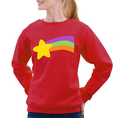 Gravity Falls Mabel Pines rainbow Red Sweatshirt Halloween Costume Adult Kids](Mabel Gravity Falls Costume)