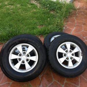 Mitsubishi triton wheels for sale $250 ONO Cecil Hills Liverpool Area Preview