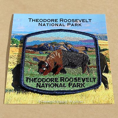 Official Theodore Roosevelt National Park Souvenir Patch North Dakota Bison
