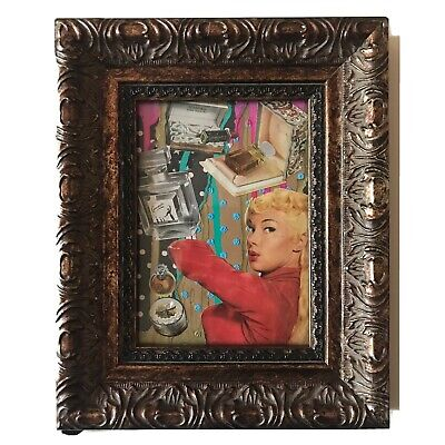 Mixed Media Collage By Pete Reilly THR  5x7 Framed Art