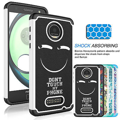 For Motorola Moto Z Force/ Moto Z Force Droid Shockproof Rubber Phone Case Cover