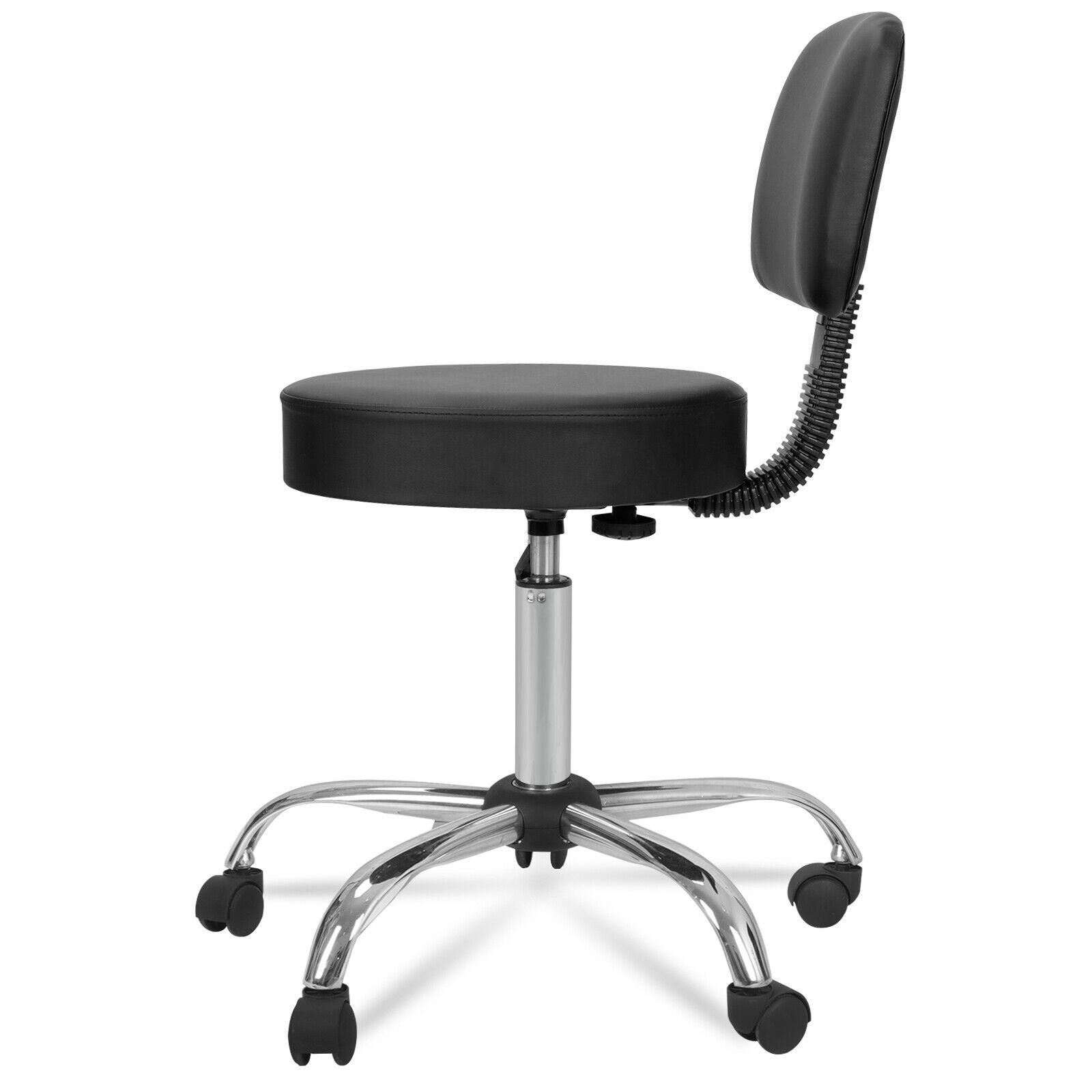3X Adjustable Salon Stool Hydraulic Rolling Chair Facial Massage Spa W/Back Rest Health & Beauty