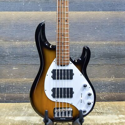 Ernie Ball Music Man StingRay 5 Special HH Vintage Tobacco Electric Bass w/Case