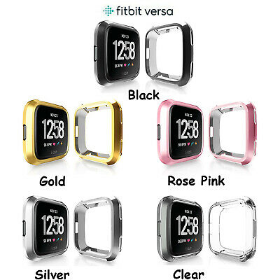 Shockproof Silicone Bumper TPU Protector Clear Case Cover For Fitbit Versa /Lite Clear Protector Case Cover