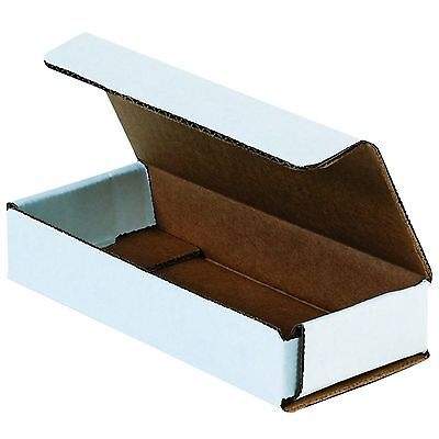 50 Of 6 X 2.5 X 1 Small White Cardboard Carton Mailer Shipping Box Boxes