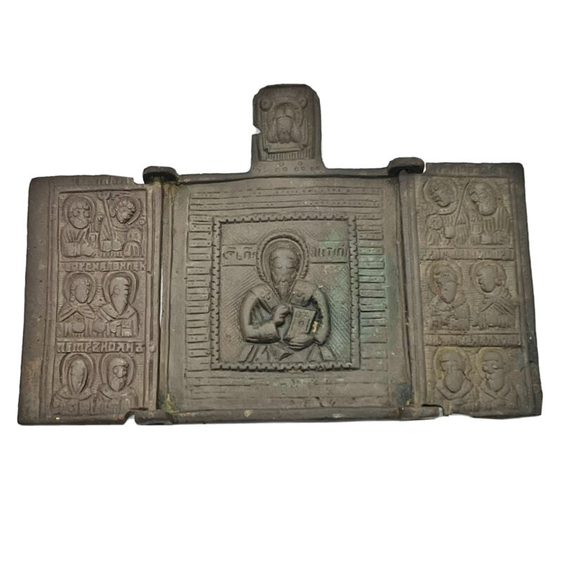 Medieval European Orthodox Christian Icon Artifact Antiquity - Ca 1500-1700 AD V