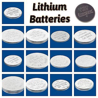 Renata Battery Silver Watch Car Key Remote Batteries Cell CR1632 CR2025 CR2032