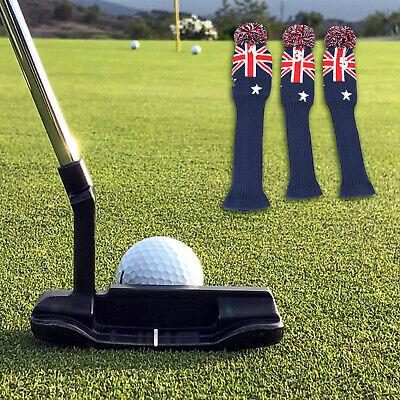 3 Stück UK Flag Knit Golf Headcover Schlägerhülle für Driver und